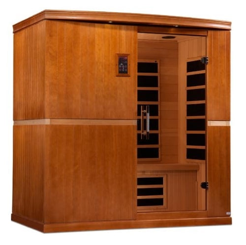 4 Person Infrared Sauna Dynamic Low EMF Carbon Far Infrared Sauna - Canadian Hemlock - Seville Edition - DYN-6410-01