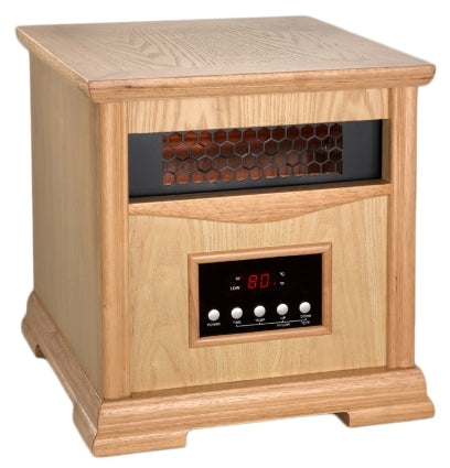 Light Oak Dynamic 1500 Infrared Space Heater w/ Remote Control