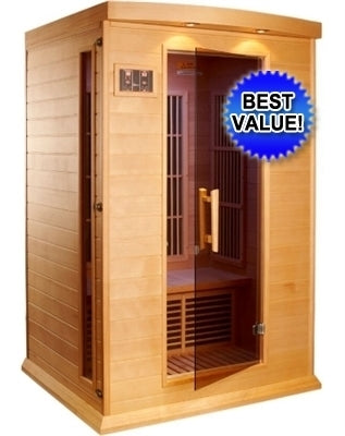 2 Person Sauna Carbon FAR Infrared Maxxus - Hemlock with CD Player & MP3 Hook Up