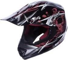 Adult Black Skull Motocross Helmet (DOT Approved)