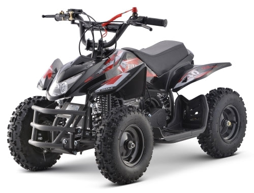 50cc Size Gas Kids Atv Sport Youth Quad Manual Pull Start - Titan With 40cc Engine
