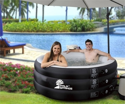 Pro Series II Inflatable 4 Person Spa Hot Tub with Body Cover