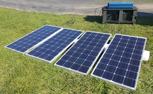 12000 Watt Solar Powered Mega Generator with 60 Amp Charge Controller - 4 Panels & 4 Batteries