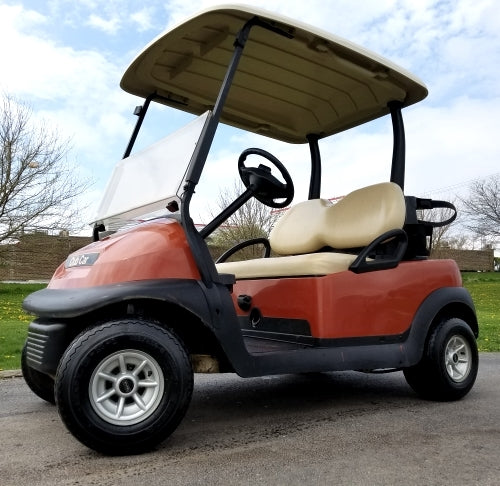 2013 48v Electric Club Car Precedent Golf Cart Cayenne Orange - Excellent Condition
