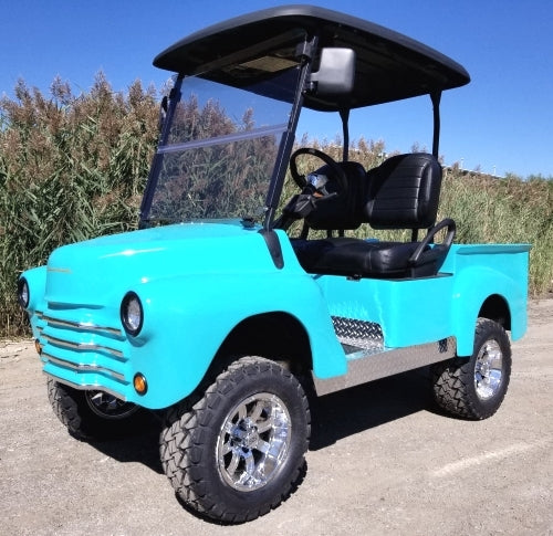 Custom 47' Old Truck Golf Cart Lifted & Fully Loaded Club Car Precedent