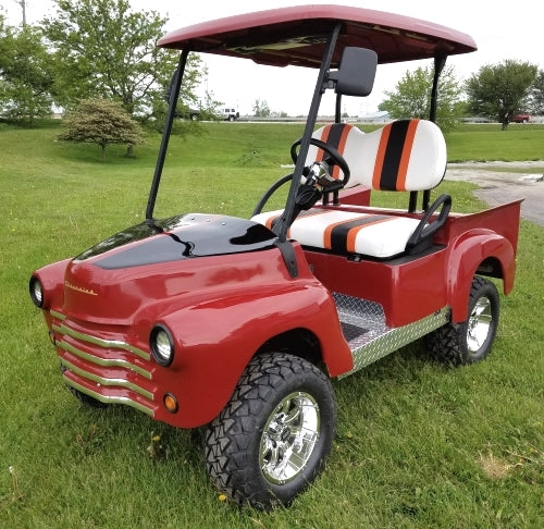 Lifted 47' Old Truck Custom Golf Cart Club Car Precedent With Lift Kit & Custom Rims, Radio & Street Legal Package