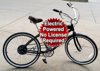 500 Watt Dewey Electric Bicycle Stretch Street Cruiser Bike - Minor Assembly Required - Not a Kit