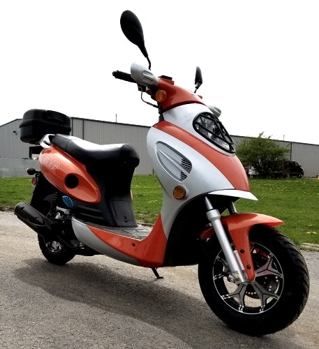 Brand New 50cc MVP Scooter Tangerine Boom Moped Scooter