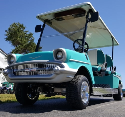 4 Seater '57 Old Car 48v Bel Air Custom Stretch Limo Club Car Golf Cart