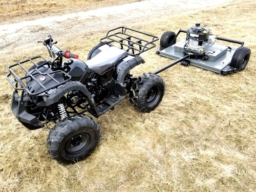 125cc ATV with Mower Lawn Muncher w/ Large 19