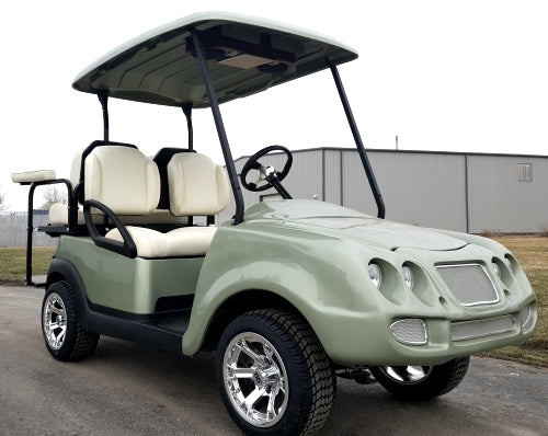 Electric Golf Cart With Custom Bucket Seats, Radio, Custom Rims & More