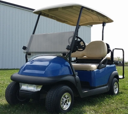 48V Blue Electric Golf Cart Club Car Precedent with Light Package