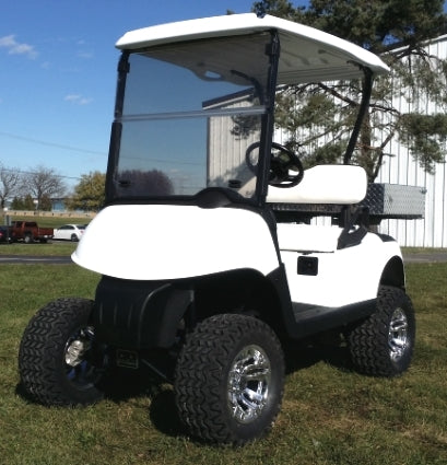 EZ-GO Gas Golf Cart RXV Lifted 13 hp Kawasaki With Utility Bed & Custom Rims & Tires