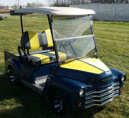 47' Old Fighter Jet 48v Electric Custom Club Car Golf Cart