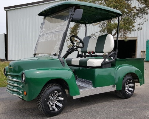 Green 47' Old Truck Custom Club Car Precedent Gas Golf Cart