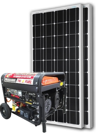 Ultimate Hybrid Power Generator System Dual Source Fuel Option