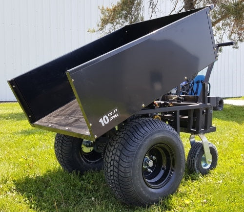 Motorized Cart Electric Powered w/ Dump - 10cu Feet Steel Bed