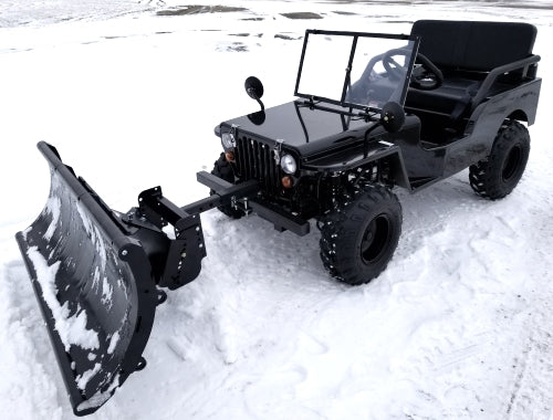 Mini Truck Utv Atv With Snow Plow Utility Mini jeep UTV Off-Road Vehicle Snow Puncher