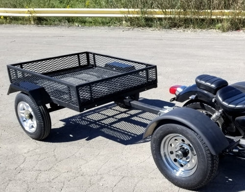 Motorcycle Pull Behind Trailer Cargo Utility Trailer With Sides - Made In The USA
