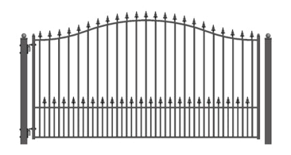 Brand New Munich Style Single Iron Driveway Gate 12' X 6 1/4'