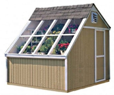 High Quality Arboretum 10' x 8' Solar Garden Shed Greenhouse