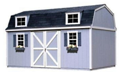 High Quality Pastoral 10' x 16' Garden Tool Shed Kit