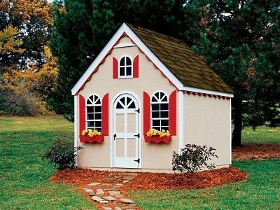 High Quality Fairy Cottage 8' x 8' Playhouse Kit