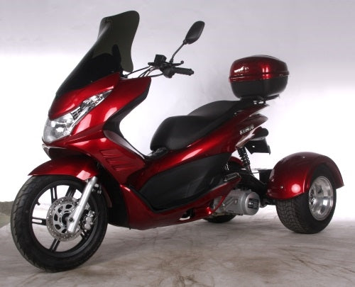 150cc 3 Wheel Trike Scooter PST150-17 Automatic 4 Stroke Moped