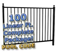 100 ft Complete Pool Code Residential Aluminum Fence 54