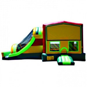 Commercial Grade Inflatable 3in1 Module Green Slide Combo Bouncy House