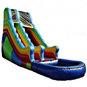 Commercial Grade Inflatable Multi Color Wavy Water Slide