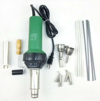 High Quality 1500w Plastic Welder Hot Air Gun + Bonus 2 Speed Welding Nozzle & Extra Rods