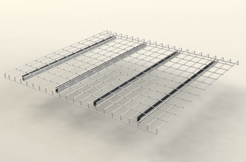Inverted Flange Mesh Decking Warehouse Shelving 42