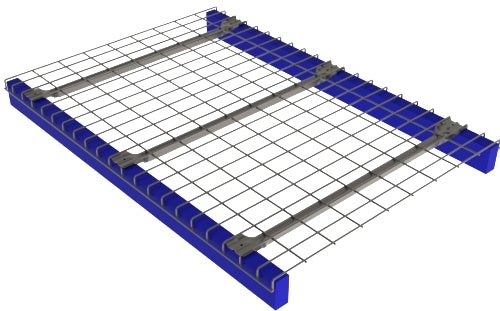 Inverted Flange Mesh Decking Warehouse Racking 42