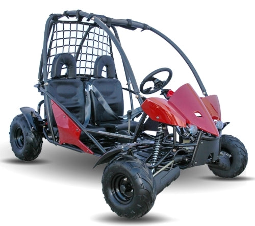 125cc Go Kart With 3-Speed Semi-Automatic w/Reverse & Electric Start - KD 125GKT