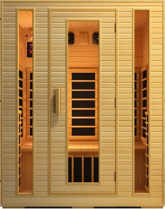 3 Person Joyous Fiber Far Infrared Sauna w/ 8 Carbon Heaters