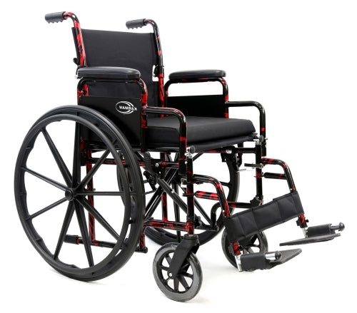 Brand New High Quality Karman Lightweight Manual Wheelchair - LT-770Q Red Streak � 37 lbs