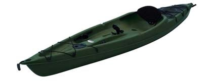 10 ft Polyethylene Sit-On Fishing Kayak w/ Portable Accessory Carrier