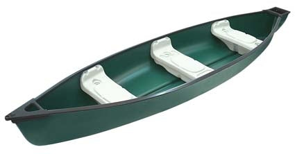 14 ft 3 Person Polyethylene Fishing Canoe w/ Square Stern