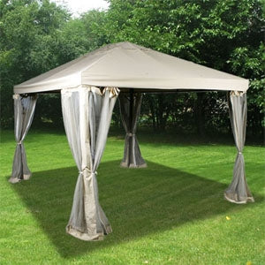 High Quality 10' x 12' Gazebo with Mosquito Netting Outdoor Canopy