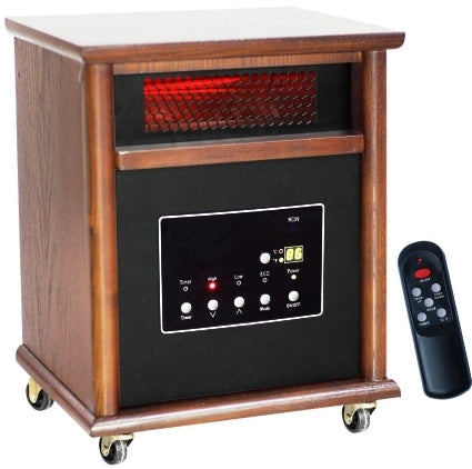 1500 Watt Lifesmart 6 Element Quartz Infrared Heater w/ Remote Control - Heats Up to 1800 Square Feet