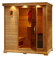 4-5 Person Monticello Sauna with Carbon Heaters
