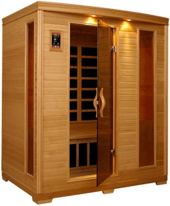 Monticello 3-4 Person Sauna with Carbon Heaters