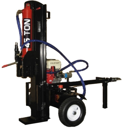 45 Ton Log Splitter Machine 15HP Hydraulic Gas Powered Electric Start