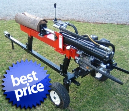 New 6.5HP 15 Ton Hydraulic Log Wood Splitter Gas Powered Engine Motor w/ Trailer