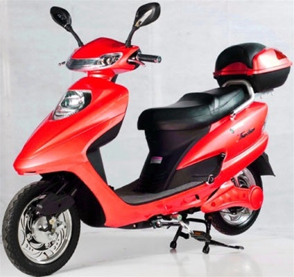 Red 500 Watt Electric Scooter Moped