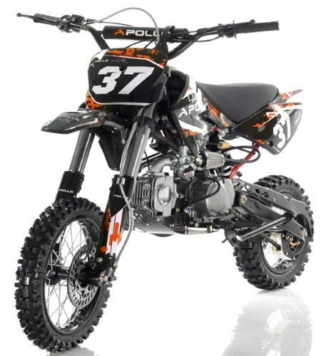 125cc Apollo Series Dirt Bike Manual Kick Start Dirt Bike - AGB-37