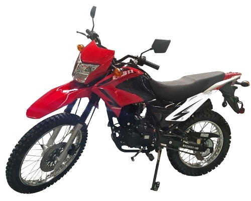 Hawk 2 - 250cc Enduro Dirt Bike 5 Speed Manual With Electric / Kick Start Remote Start / Alarm Street Legal - Model DB-41H-250