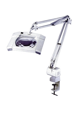 Square 5x Diopter Magnifier Tabletop Lamp