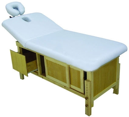Massage Bed & Table w/Storage & Backlift w/Adjustable Height